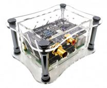 Case Allo DigiOne Signature - Acrylic transparent for Raspberry Pi 2B, 3B, 3B+ B-Stock