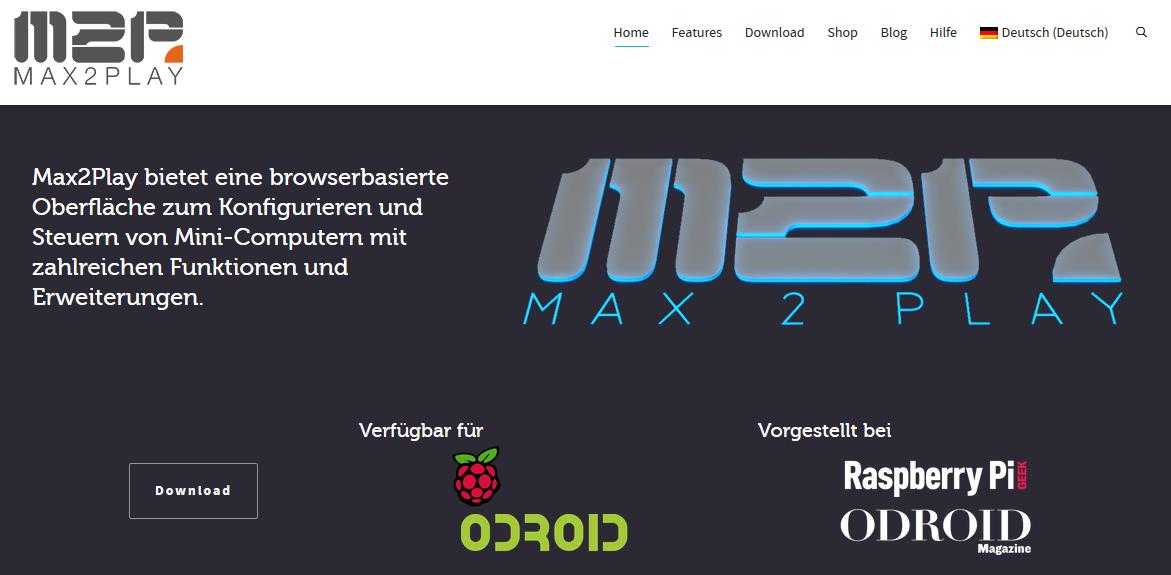 Hier geht's zu max2play.com
